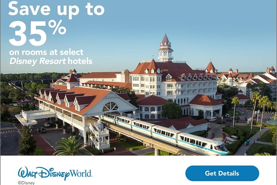 Walt Disney World Promotion - Save up to 35% on rooms at select Walt Disney World Resort hotels